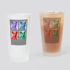 Homage to Warhol Pitbulls Drinking Glass