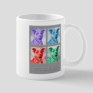 Homage to Warhol Pitbulls Mugs