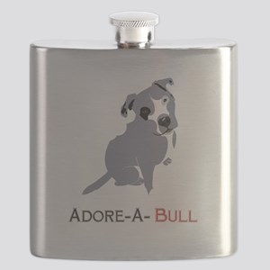 Grey Pittie Puppy Adore-A-Bull Flask