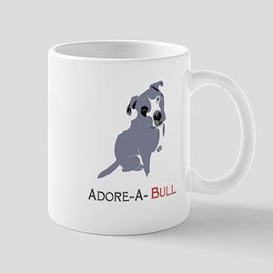 Grey Pittie Puppy Adore-A-Bull Mugs