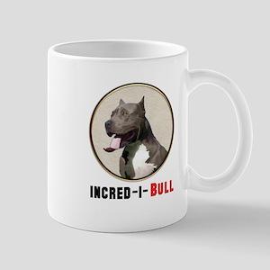 Grey White Pitbull Incred-i-Bull Mugs