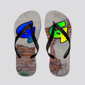 GRAFFITI #1 G Flip Flops