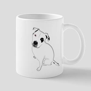 Cute Pitbull PuppyWhite Shaded Mugs