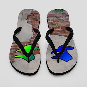 GRAFFITI #1 F Flip Flops
