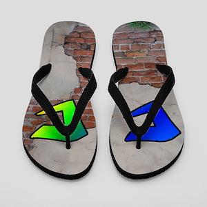 GRAFFITI #1 C Flip Flops