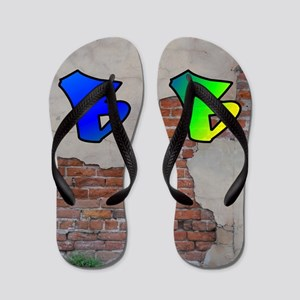 GRAFFITI #1 B Flip Flops
