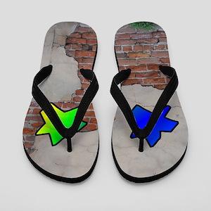 GRAFFITI #1 STAR Flip Flops
