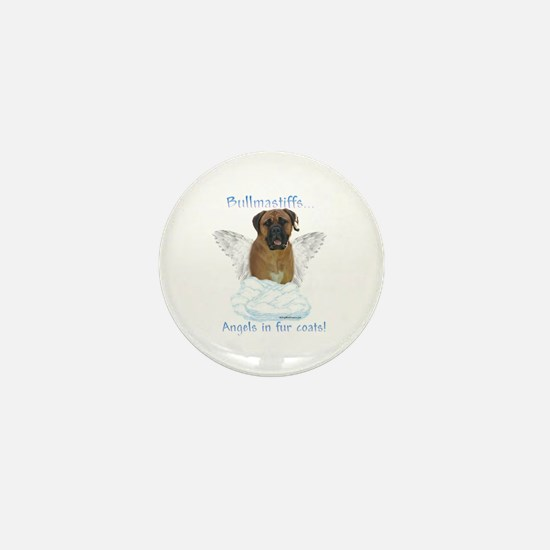 Bullmastiff Angel Mini Button
