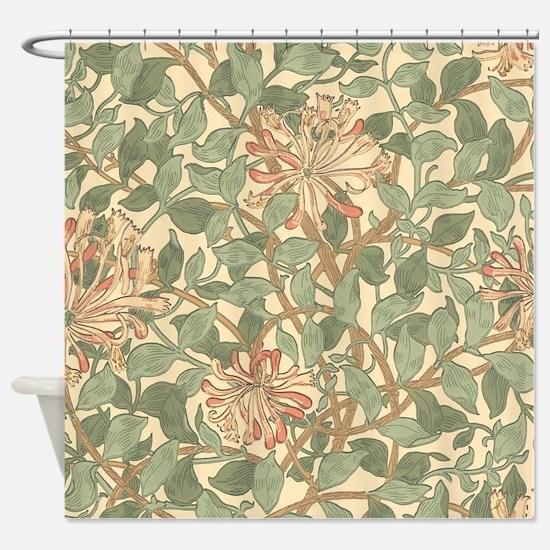 William Morris Honeysuckle Shower Curtain