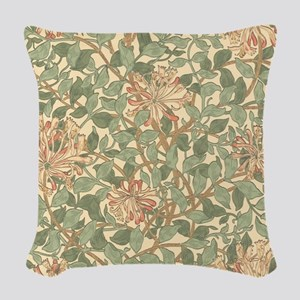 William Morris Honeysuckle Woven Throw Pillow