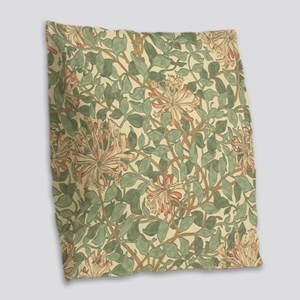 William Morris Honeysuckle Burlap Throw Pillow
