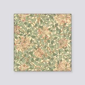 "William Morris Honeysuckle Square Sticker 3"" x 3"""