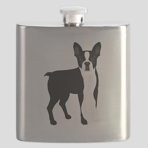 Boston Terrier Flask