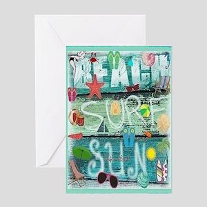 Beach Card Greeting Cards