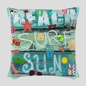 Beach Woven Throw Pillow