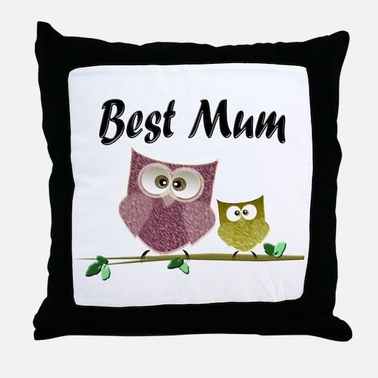 Best Mum Throw Pillow