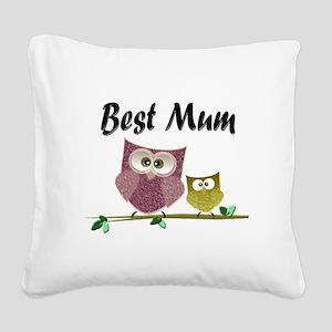 Best Mum Square Canvas Pillow