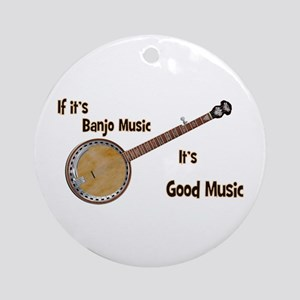 Banjo Music Ornament (round)