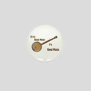 Banjo Music Mini Button