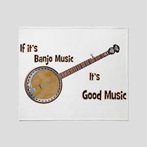 Banjo Music Throw Blanket
