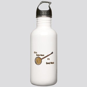 Banjo Music Water Bottle