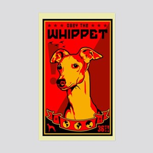 Obey the Whippet! Rectangle Sticker
