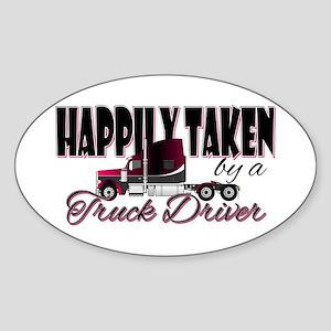Happily Taken - Truck Driver Sticker
