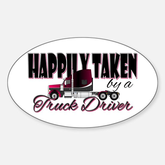 Happily Taken - Truck Driver Decal