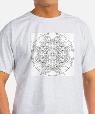Large Hadron Collider Lineart T-Shirt