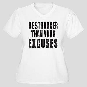BE STRONGER THAN Women's Plus Size V-Neck T-Shirt