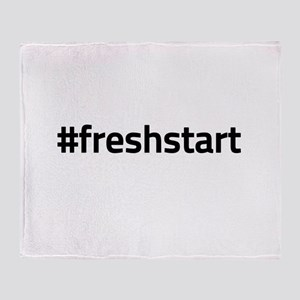 #freshstart Throw Blanket