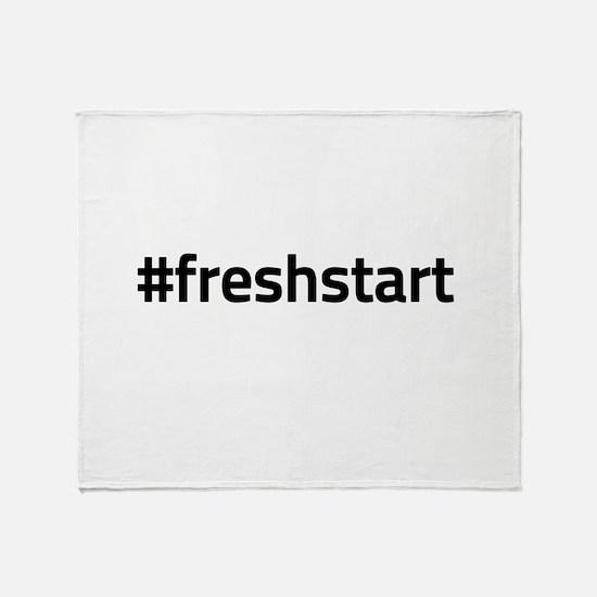 #freshstart Throw Blanket