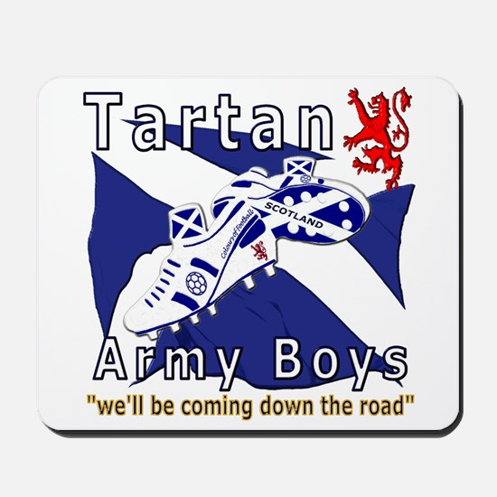 Tartan Army Boys Coming Mousepad