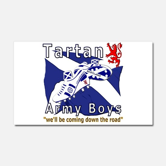 Tartan Army Boys Coming Car Magnet 20 x 12