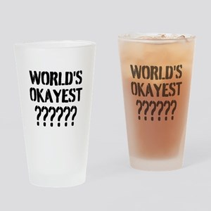 Worlds Okayest | Personalized Drinking Glass