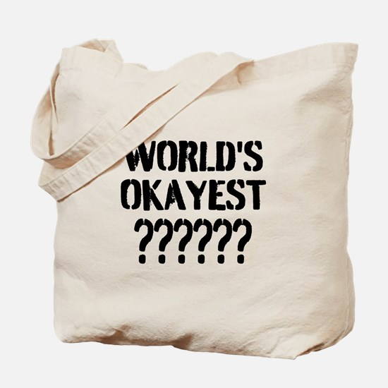 Worlds Okayest | Personalized Tote Bag