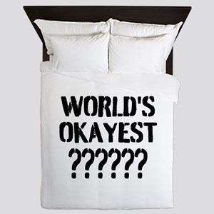 Worlds Okayest | Personalized Queen Duvet