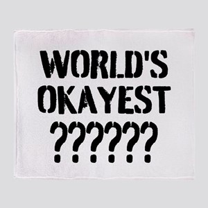 Worlds Okayest | Personalized Throw Blanket