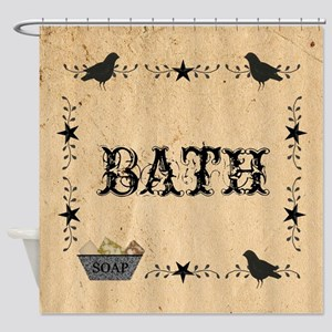 Primitive Bath Shower Curtain