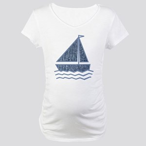 Little jeans sailboat Maternity T-Shirt