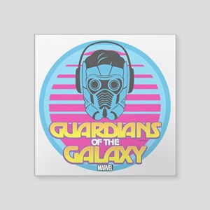 "80s Star Lord Square Sticker 3"" x 3"""