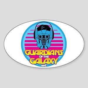 80s Star Lord Sticker (Oval)
