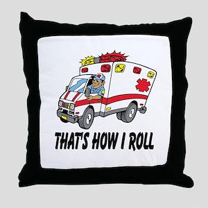 Ambulance driver Throw Pillow