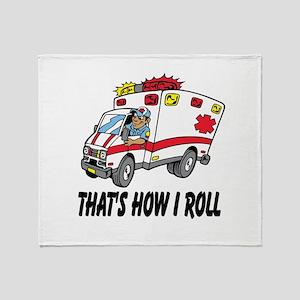Ambulance driver Throw Blanket