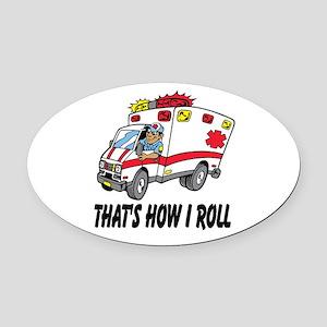 Ambulance driver Oval Car Magnet