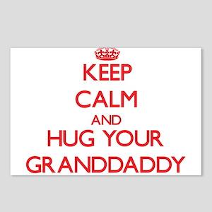 Keep Calm and HUG your Granddaddy Postcards (Packa