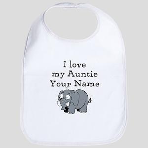 I Love My Auntie Elephant (Custom) Bib