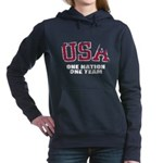 USA One Nation Women's Hooded Sweatshirt