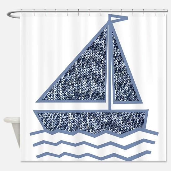 Little Jeans Sailboat Shower Curtain