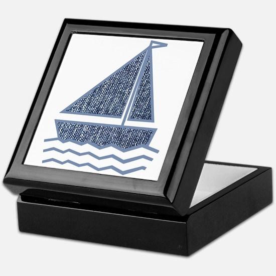 Little jeans sailboat Keepsake Box